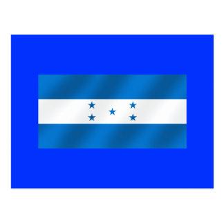 Light Blue Honduras glossy flag gifts Postcard