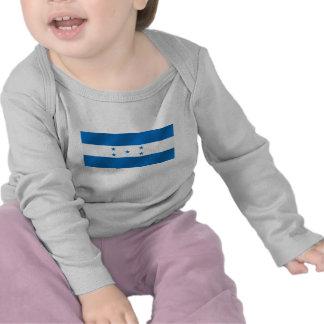 Light Blue Honduras glossy flag gifts Tshirt