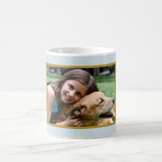 Light Blue Horizontal Photo Gift Mug