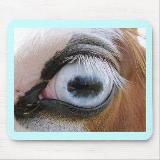 light blue horse eye mouse pad