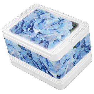 Light Blue Hydrangea Igloo Drink Cooler