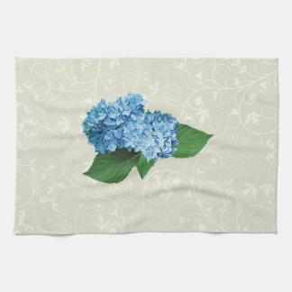 Light Blue Hydrangea Kitchen Towel