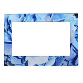 Light Blue Hydrangea Magnetic Frame