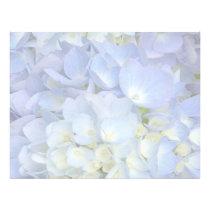 Light Blue Hydrangea Wedding Program Blank Paper
