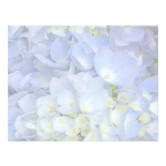 Light Blue Hydrangea Wedding Program Blank Paper