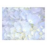 Light Blue Hydrangea Wedding Program Blank Paper Letterhead