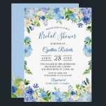 """Light Blue Hydrangeas Floral Wreath Bridal Shower Card<br><div class=""""desc"""">Light Blue Hydrangeas Floral Wreath Bridal Shower Invitation. (1) For further customization, please click the &quot;customize further&quot; link and use our design tool to modify this template. (2) If you prefer Thicker papers / Matte Finish, you may consider to choose the Matte Paper Type. (3) If you need help or...</div>"""