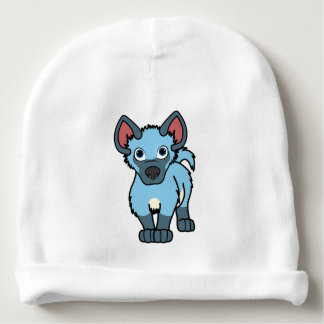 Light Blue Hyena Cub Baby Beanie