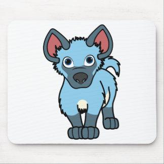 Light Blue Hyena Cub Mouse Pad