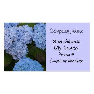 Light Blue Hyrdrangea Business Cards