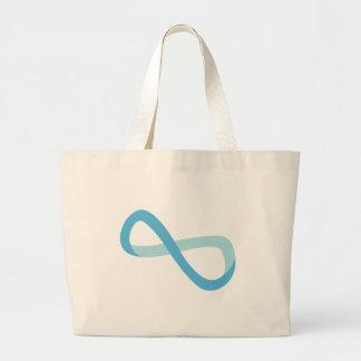 Light Blue Infinity Canvas Bag