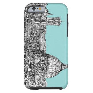 Light blue Italian ink Tough iPhone 6 Case
