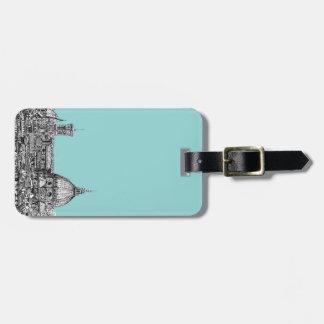 Light blue Italian ink Luggage Tag