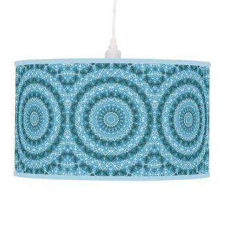 Light Blue Kaleidoscope / Mandala Ceiling Lamp