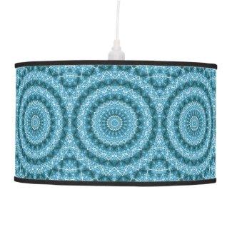 Light Blue Kaleidoscope / Mandala Hanging Lamp