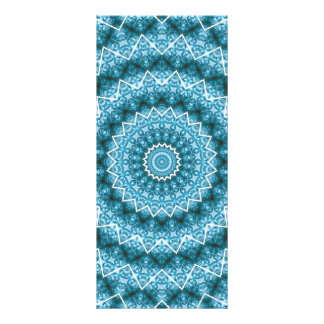 Light Blue Kaleidoscope / Mandala Rack Card