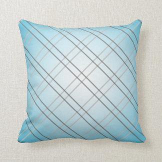 Light blue Karo sample Zierkissen Throw Pillow