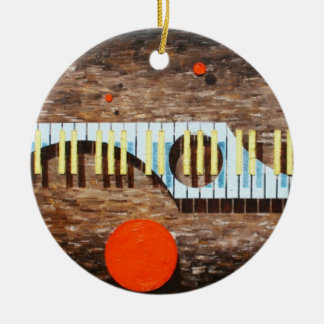 Light Blue Keys Round Christmas Ornament 2012