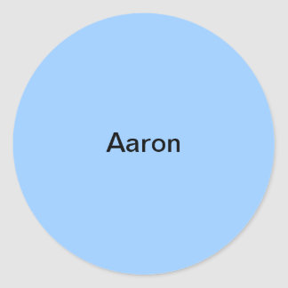 Light Blue  Kids Name Aaron Sticker Personalized