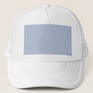 Light Blue Knit Stockinette Stitch Pattern Trucker Hat