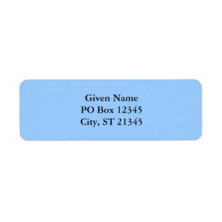 Light Blue Return Address Labels
