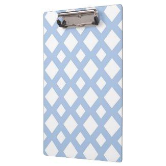 Light Blue Lattice on White Clipboards