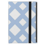 Light Blue Lattice on White Cover For iPad Mini