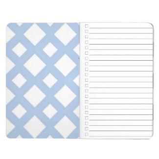 Light Blue Lattice on White Journal