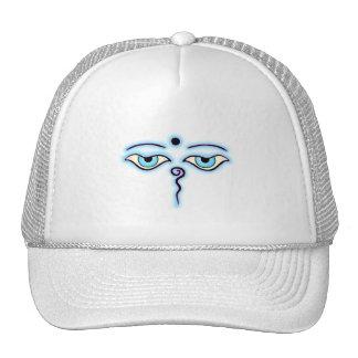 Light Blue  Lavender Buddha Eyes.png Trucker Hat