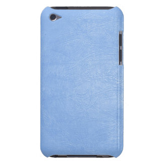 light blue leather texture ipod touch case