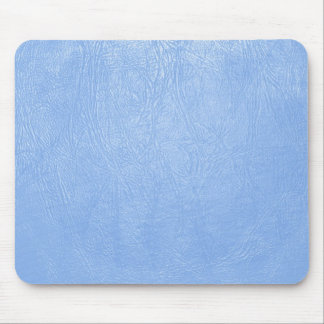 light blue leather texture mousepads