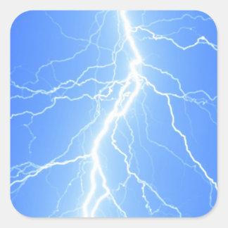 Light Blue Lightning Strike - Sticker