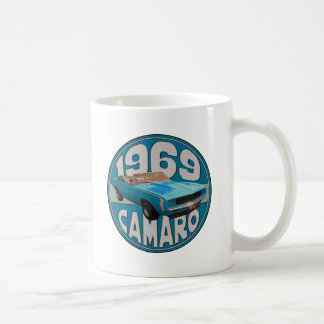 Light Blue Line 1969 Camaro Super Sport Coffee Mug