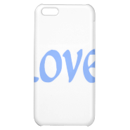 Light Blue Love Cover For iPhone 5C