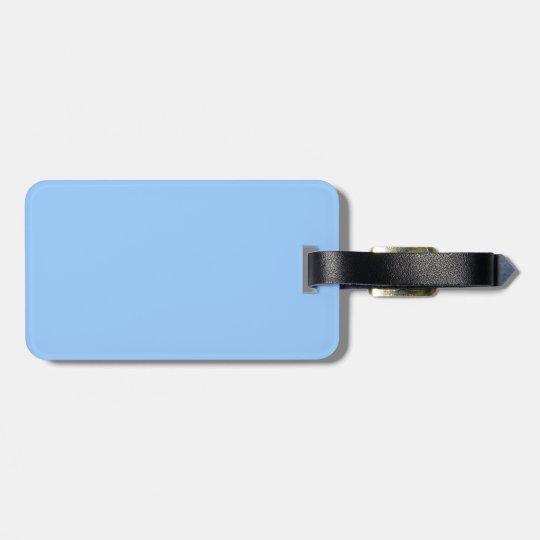 Light Blue Luggage Tag