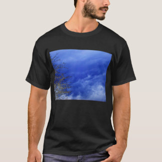 Light Blue Mammatus Clouds and Electric Branches b T-Shirt