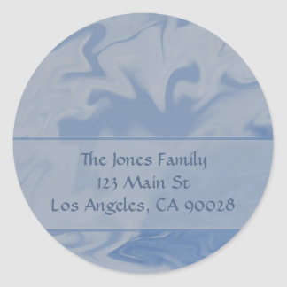 Light Blue Marble Classic Round Sticker