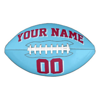 LIGHT BLUE MAROON AND WHITE Custom Football