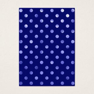 Light Blue Metallic Faux Foil Polka Dot Bright Business Card