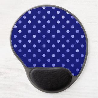 Light Blue Metallic Faux Foil Polka Dot Bright Gel Mouse Pad