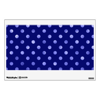 Light Blue Metallic Faux Foil Polka Dot Bright Wall Sticker