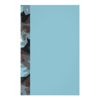 light blue modern art stationery