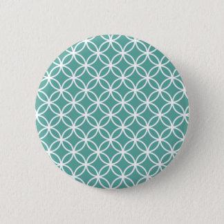 Light Blue Modern Circular Pattern Button