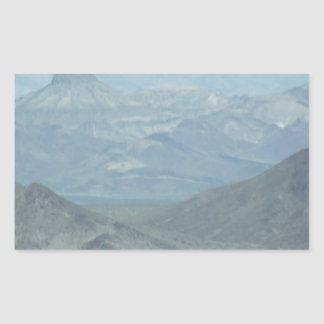 Light Blue Mountains Rectangular Sticker
