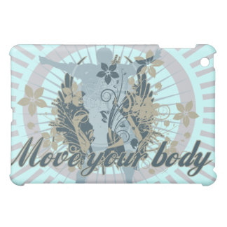 Light Blue Move Your Body Dance iPad Mini Covers