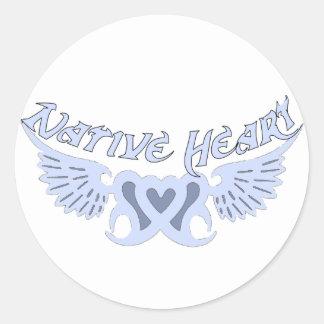 Light Blue Native Heart Decal or Sticker Sheet