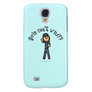 Light Blue Navy Girl Galaxy S4 Case