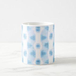 Light Blue Ocean Dot Matrix of Circles Coffee Mug