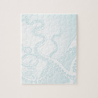 Light Blue Octopus Tentacles Jigsaw Puzzle