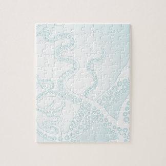 Light Blue Octopus Tentacles Puzzle